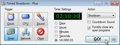 Timed Shutdown - Automatically shutdown your computer with a